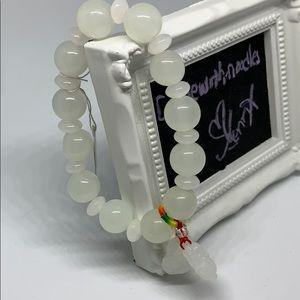 Jade double Buddha bracelet